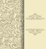 Fond avec motif floral — Vecteur