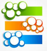 набор баннеров с кругами — Cтоковый вектор