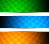 Satz von tech-banner — Stockvektor