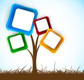 Fondo con árbol — Vector de stock