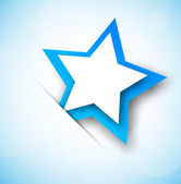 Background with blue star — Vector de stock
