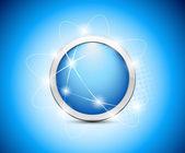 Abstract blue button — Stock Vector