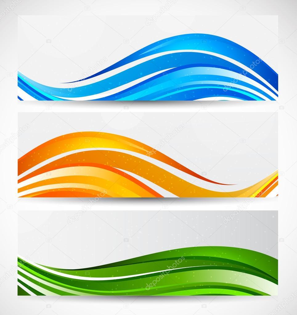 Set of wavy banners — Stock Vector © Denchik #19802011