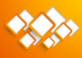 Background wit orange squares — Stock Vector