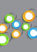 Fond avec cercles colorés — Vecteur