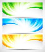 Set di banner ricciolo — Vettoriale Stock