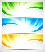 Set of swirl banners — Stock Vector