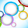 Background with colorful circles — Image vectorielle