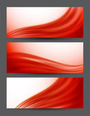 Set of red banners — Stock Vector