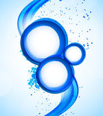 Fundo com círculos azuis — Vetor de Stock