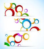 Conjunto de banners con círculos — Vector de stock