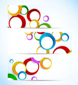 Set of banners with circles — Vector de stock