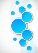 Tło z niebieskich kółek — Wektor stockowy