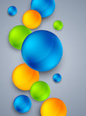 Abstract background with colorful spheres — Vector de stock