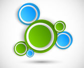 Abstract background with circles — Cтоковый вектор