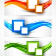 Set of banners with squares — Stock Vector #24648515