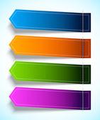彩色标记的一组 — 图库矢量图片