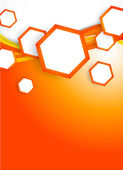 Orange hexagons — Stock Vector