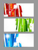 Set of banners — Vettoriale Stock