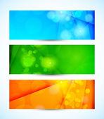 Set van banners — Stockvector