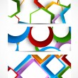Set of geometric banners — Stock Vector