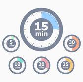 Conjunto de contadores de tiempo — Vector de stock