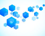 Abstract background with blue hexagons — Cтоковый вектор