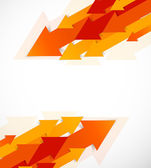 Abstract background with orange arrows — Stock Vector