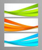 Set of wavy banners — Stock Vector