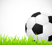 Background with a soccer ball — Stock Vector