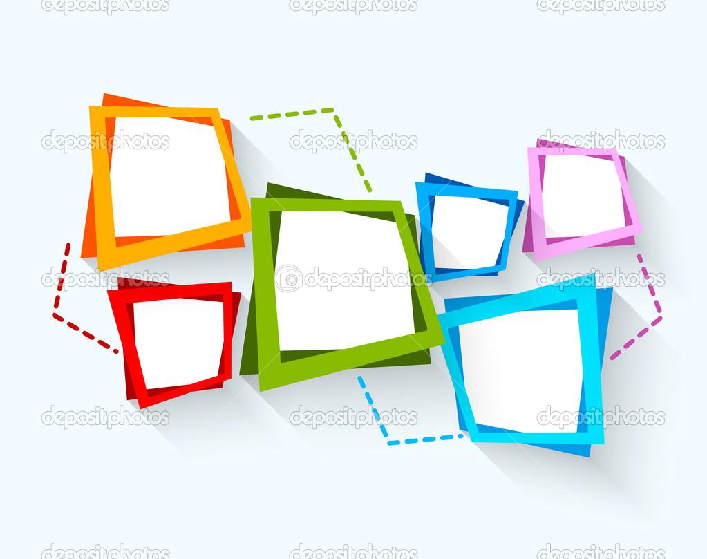 Sfondo astratto con quadrati colorati vettoriali stock for Piani domestici di 2000 piedi quadrati