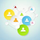 社会网络概念 — 图库矢量图片