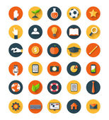 Set of flat icon — Stock Vector