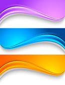 Set of wavy colorful banners. — Stockvektor