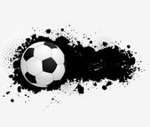 Grunge banner with soccer ball — Vecteur