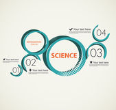 Science infographic with circles — Stock Vector