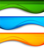 Set of wavy banners — Vector de stock