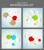 Set of backgrounds — Vector de stock