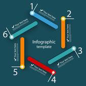 Infographic mall — Stockvektor