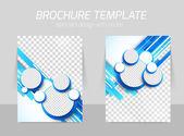 Blau broschüre mit kreisen — Stockvektor