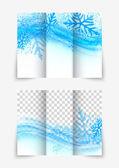 Trifold snowflake brochure — Stock Vector