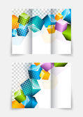 3d cubes brochure design — Stock Vector