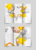 Orange stars brochure — Stock Vector