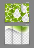 Pears texture tri fold brochure — Stock Vector