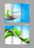 Spa salon beauty tri-fold brochure — Stock Vector