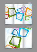 Tri fold brochure — Stock Vector