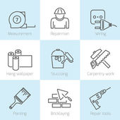 Repair home icons — Stock Vector