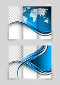 Tri-fold brochure — Stock Vector