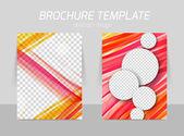 Flyer template design — Stok Vektör