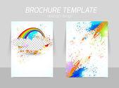Flyer template design — Stock vektor